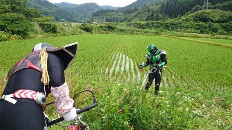 Parfois, Neiger est rejoint par son acolyte Neiger Geon, un super héros qui protège les arbres et les forêts d'Akita.