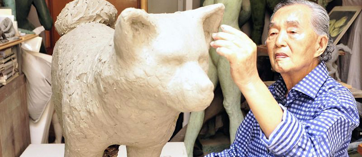 sculpture-hachiko-ando-chien-japon