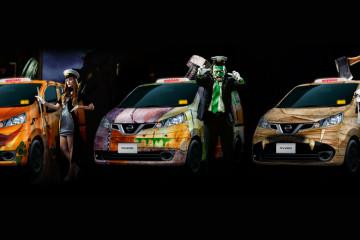 taxis-halloween-tokyo-japon-nissan