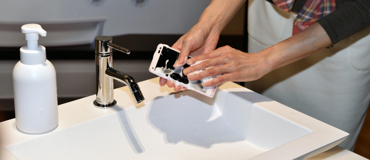 telephone-portable-lavable-savon-kyocera-digno-rafre-japon