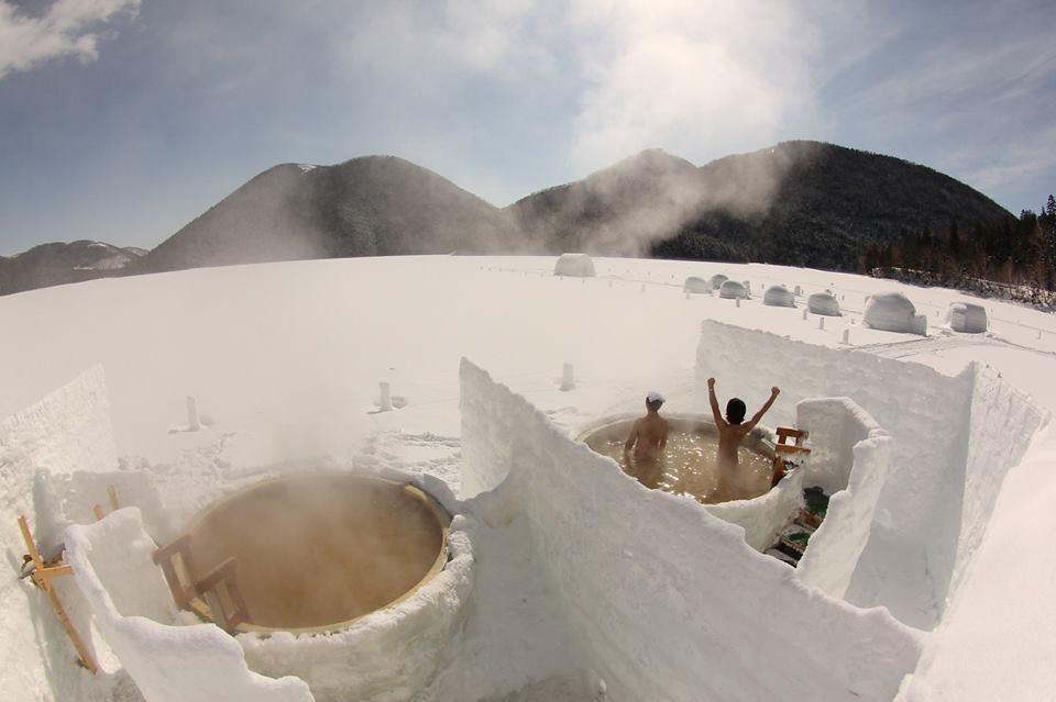 Quoi de mieux qu'on bon bain chaud en pleine nature ?
