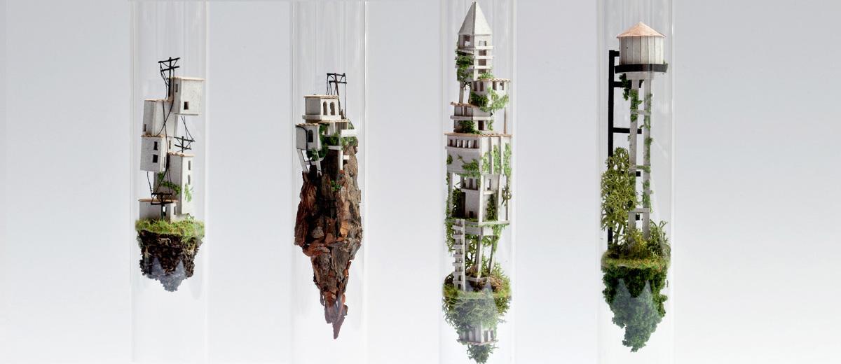 Ile Volante cet artiste crée des îles volantes tout droit sorties d'un film ghibli