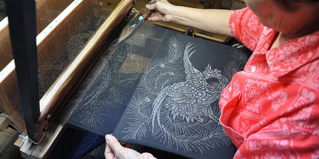 oshima-tsumugi-kimono-tissu-japon