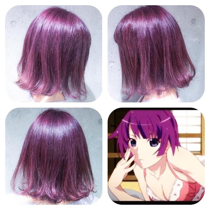 « Hitagi Violet » est basée sur la couleur du personnage d'Hitagi Senjogahara de la série de light-novel Monogatari
