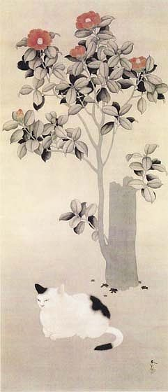 hishida-peinture-chats (3)