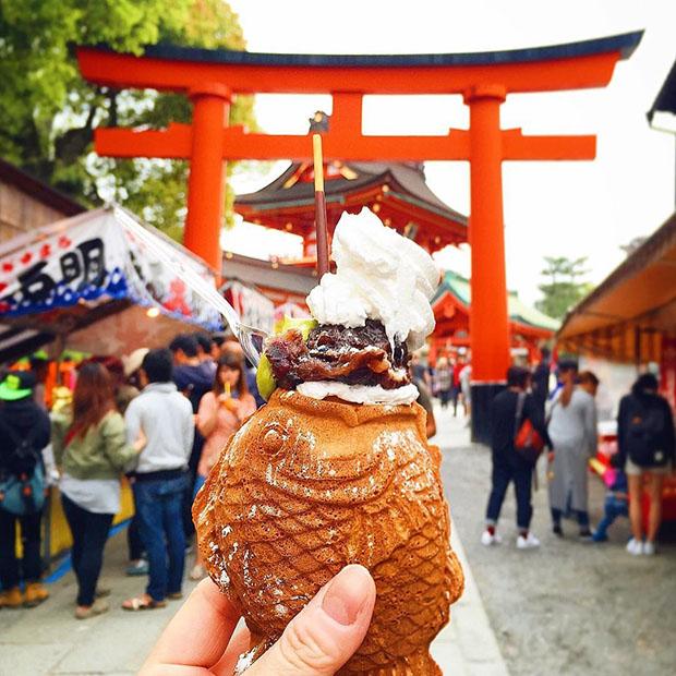 Taiyaki, Fushimi Inari (Kyoto)