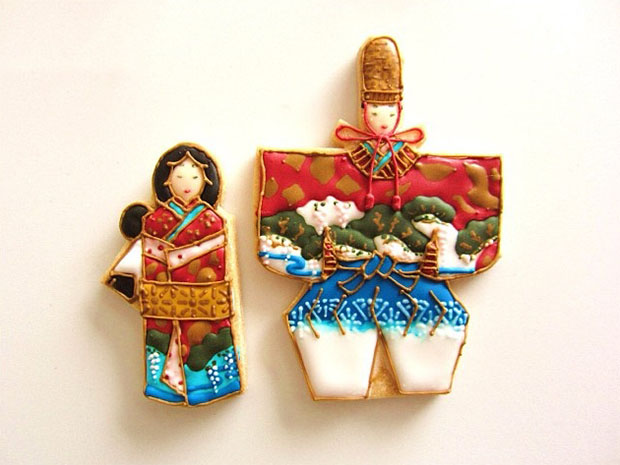 Des poupées Hina Matsuri.