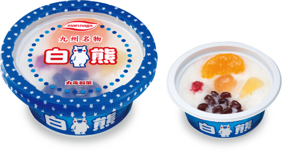 Fruits et haricots rouges glacés avec glace pilée au lait condensé