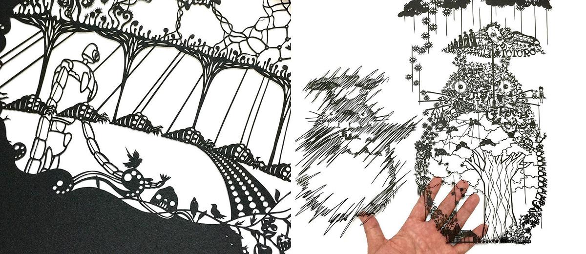 kirigami-decoupe-papier-ghibli-totoro-art