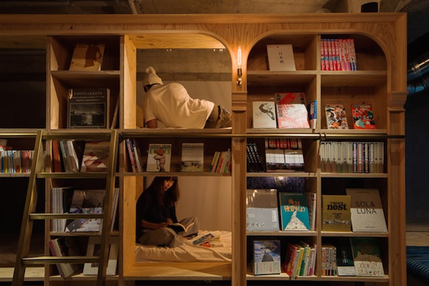 book-and-bed-hotem-tokyo-bibliothque-librairie-japon-livres (5)