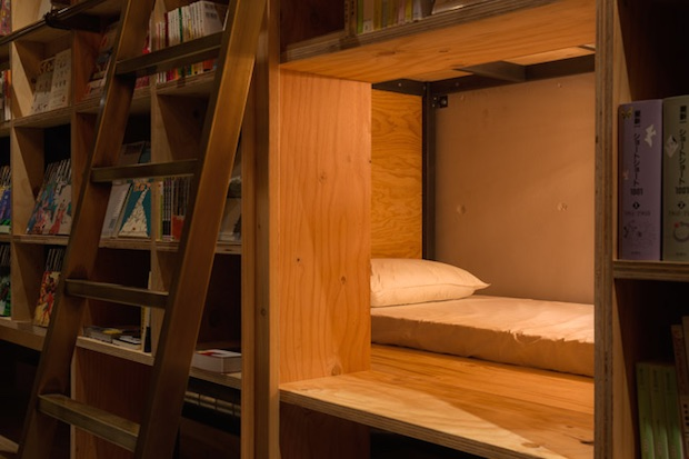 book-and-bed-hotem-tokyo-bibliothque-librairie-japon-livres (6)