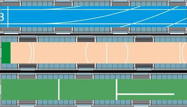 Le train verra peut être son sol changé en différents types de terrains de sport