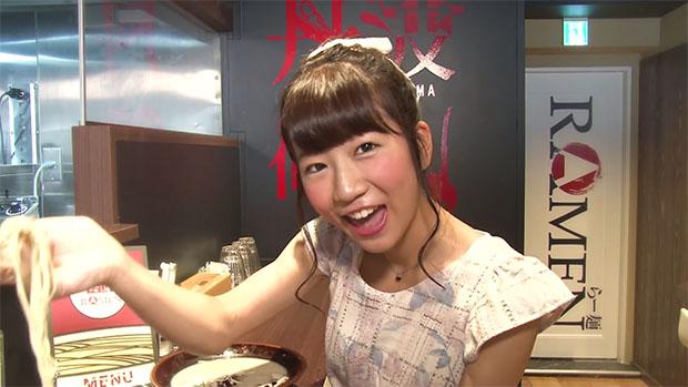 Apparemment Ku-chan a commandé un autre type de ramen, mais elle vous propose gentiment de vous faire gouter le sien.